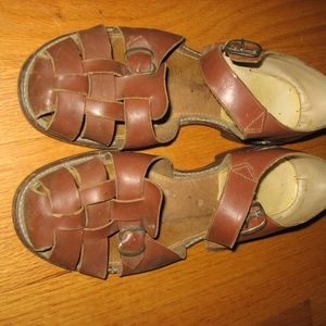 Men's Vintage All Leather Sandals Size 10